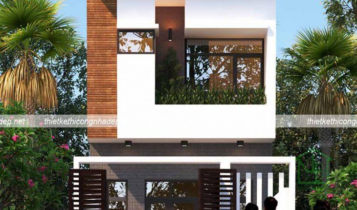 Tư vấn thiết kế mẫu nhà phố 2 tầng 5x13m đẹp giá rẻ 1