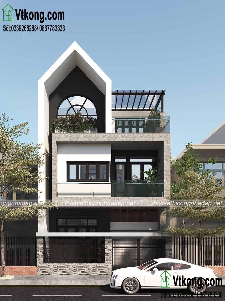 Tư vấn mẫu nhà phố 3 tầng 7x13m 4 phòng ngủ hiện đại NP3T06