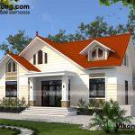 Mẫu thiết kế nhà vườn mái thái chi phí thi công giá rẻ BT1T48