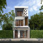 Tư vấn thiết kế mẫu nhà phố 3 tầng 5x17m hiện đại và sang trọng NP3T08