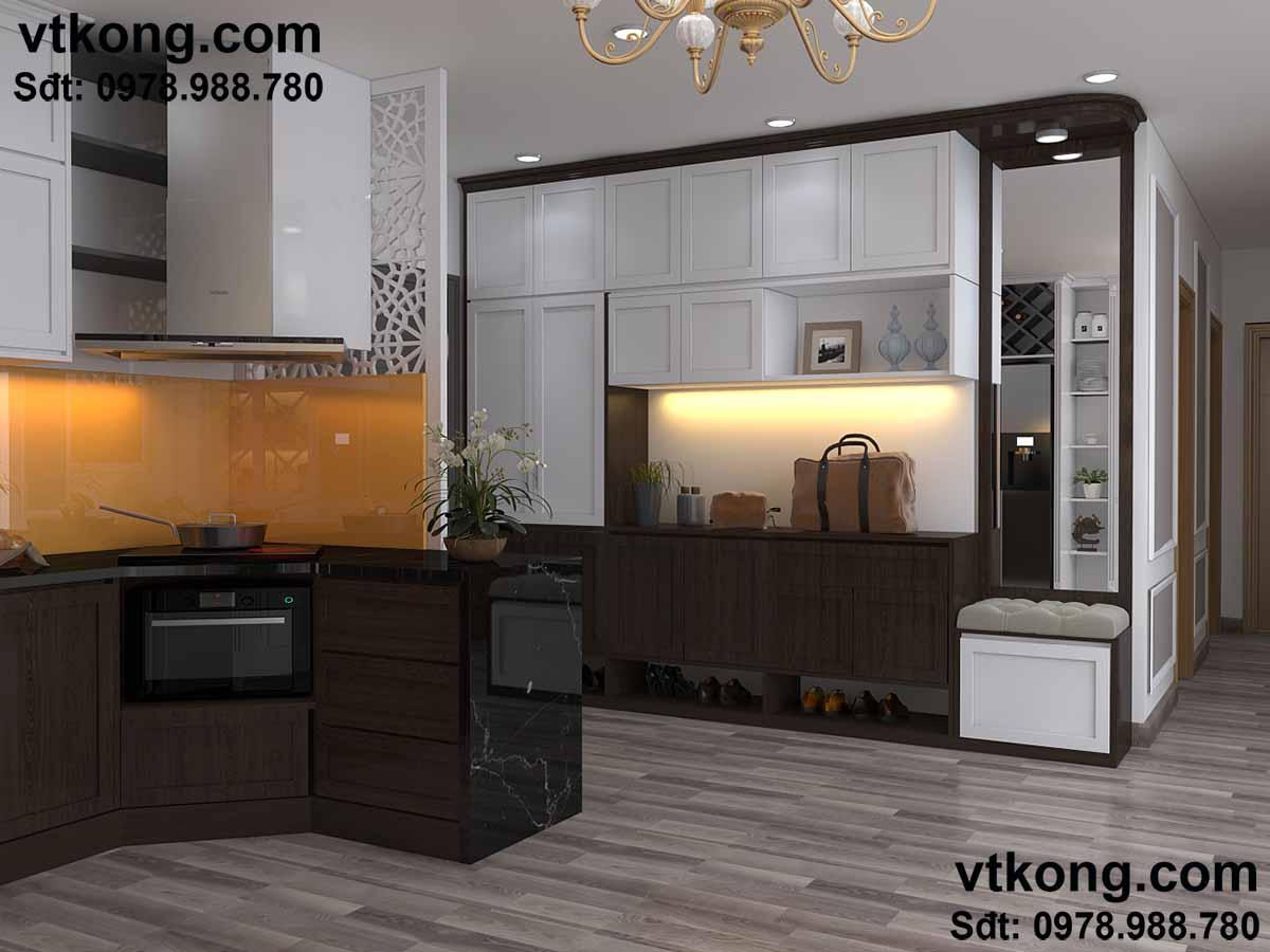 Không gian bếp của chung cư.