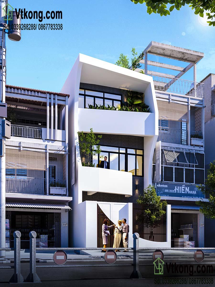 Mẫu nhà phố 3 tầng độc đáo nhất năm 2019
