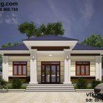 Thiết kế nhà vườn 1 tầng mái thái hiện đại tại Sơn La NC447