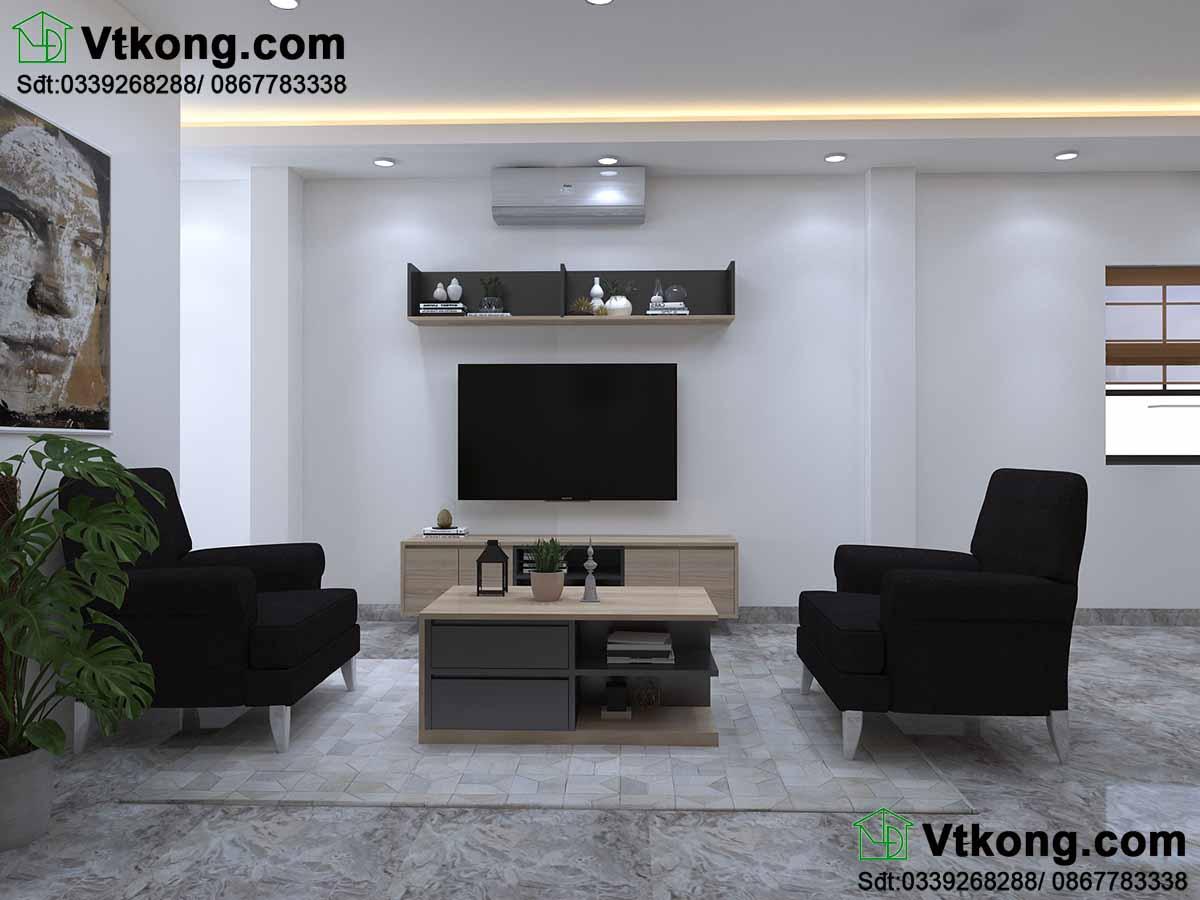 Thiết kế nội thất chung cư phòng khách.