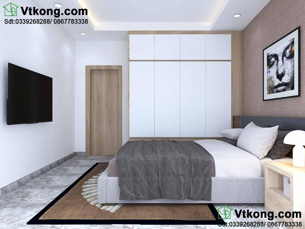 Thiết kế nội thất chung cư phòng ngủ.