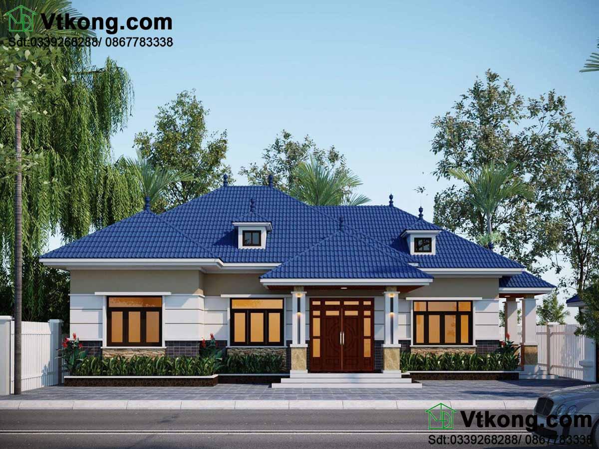Biệt thự vườn 1 tầng 9x16m hiện đại tại Vĩnh Phúc BT1T57