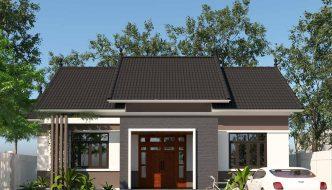 Mẫu nhà cấp 4 mái thái, nhà cấp 4 đẹp Thái Nguyên NC450