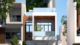 Nhà phố 3 tầng 5x19m hiện đại.