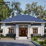 Thiết kế nhà cấp 4 9x12m giá 600 triệu NC448