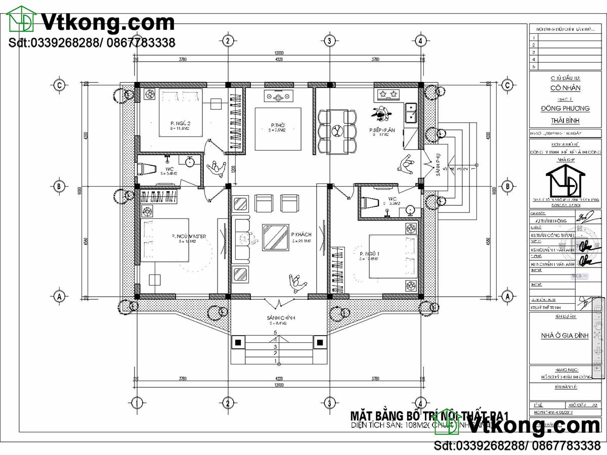 Bản vẽ chi tiết thiết kế nhà cáp 4 9x12m.