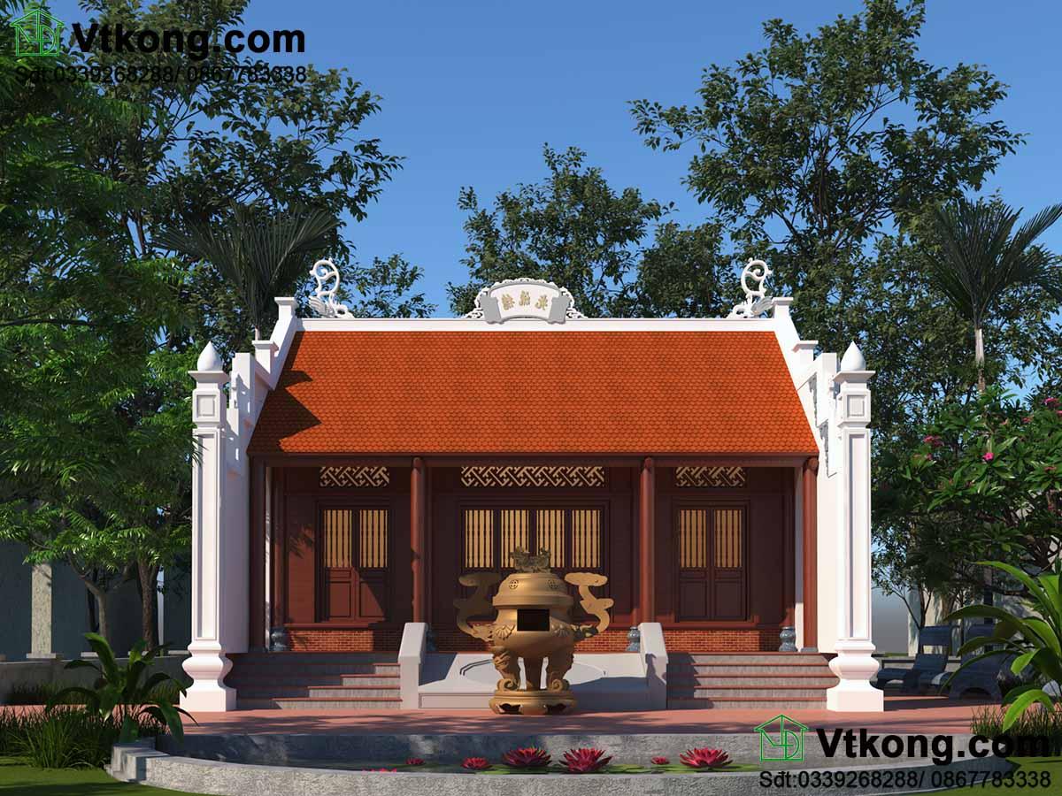 Mẫu nhà thờ họ Ninh Bình.
