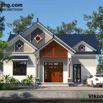 Thiết kế nhà vườn 1 tầng mái thái đẹp tại Hà Nam BT1T61