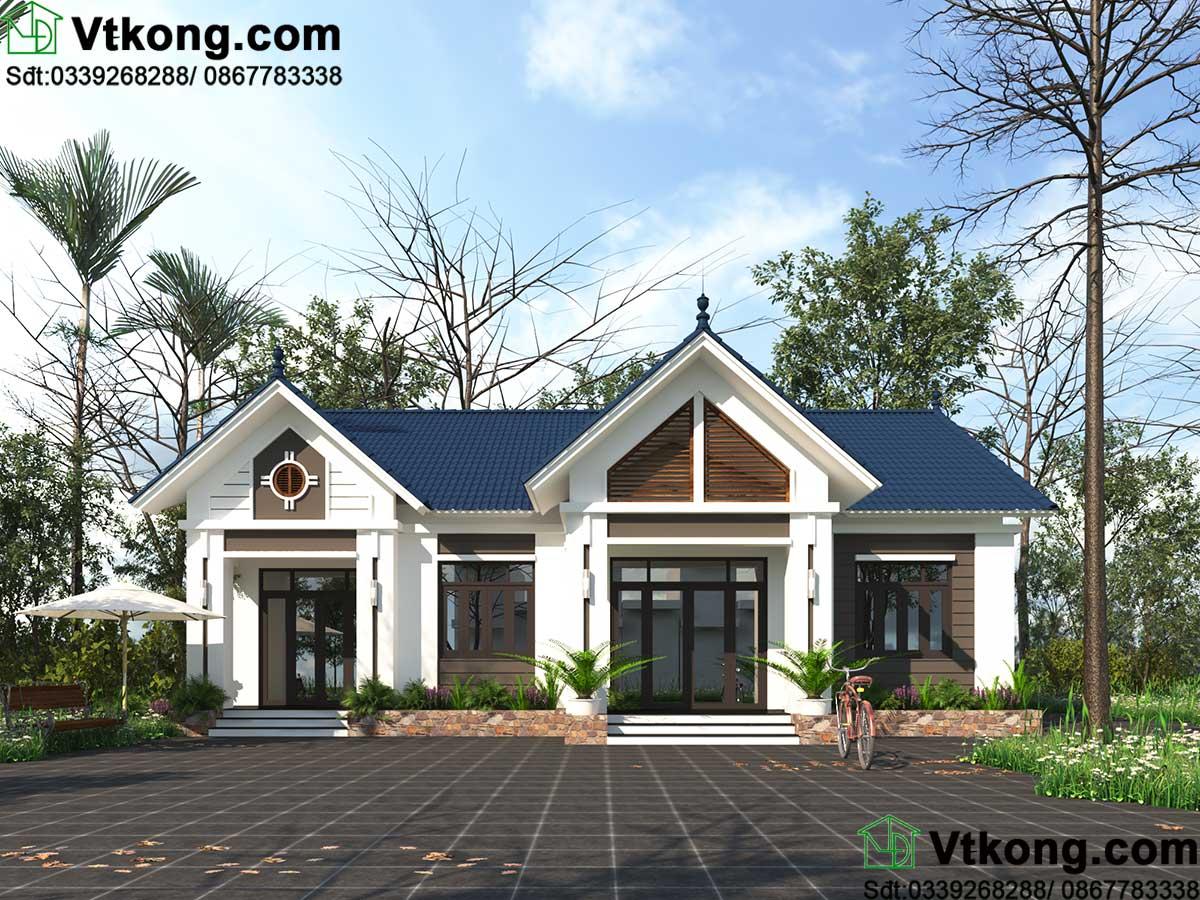 Mẫu số 3 - Mẫu nhà 1 tầng mái thái tại Thái Nguyên