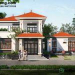 Biệt thự 2 tầng mái thái chữ L tại Tuyên Quang BT2T46