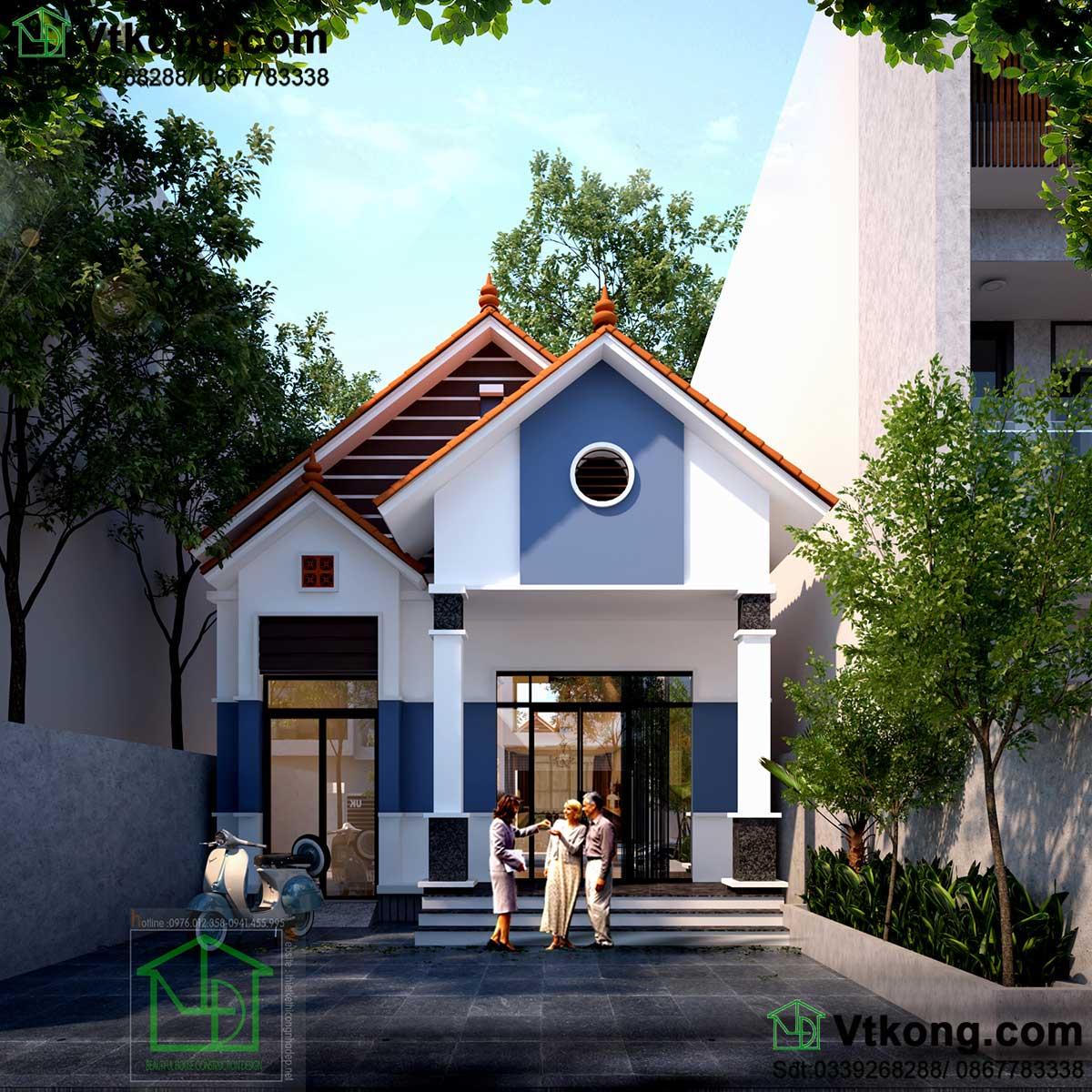 nhà cấp 4 7x10m mái thái NC455