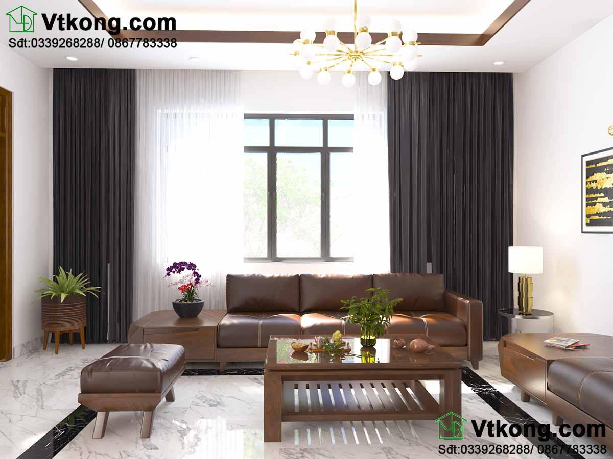 Toàn bộ nội thất sử dụng gỗ óc chó cao cấp BT2T41.