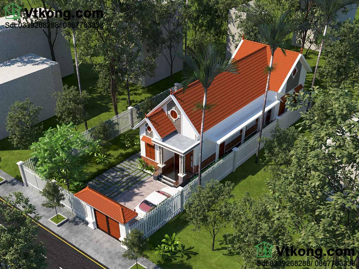 Phối cảnh khái quát giúp bạn có cái nhìn tổng thể về căn nhà.