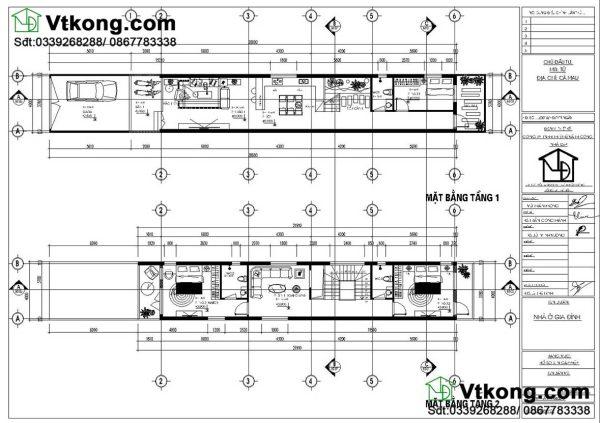 nội thất nhà phố 3 tầng 4x20m NP3T12