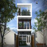 Nhà phố 3 tầng 4x20m hiện đại tại Cà Mau NP3T12