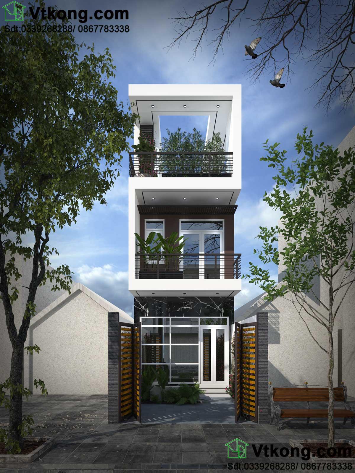 nhà phố 3 tầng mặt tiền 4m NP3T12