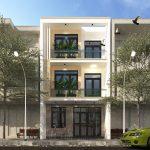 Thiết kế nhà phố 3 tầng mái bằng đẹp tại Hà Tây NP3T11