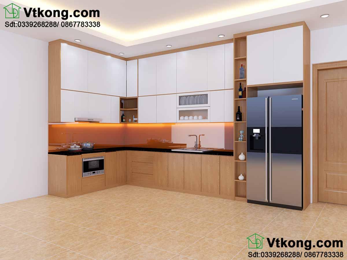 Thiết kế nội thất phòng bếp cho biệt thự.