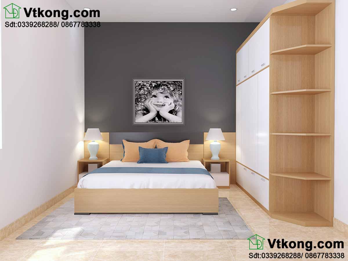 Thiết kế phòng ngủ cho biệt thự tại Thái Nguyên.