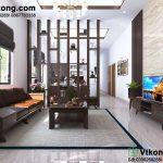 Thiết kế nội thất nhà cấp 4 phòng khách và phòng bếp đẹp