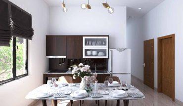 Thiết kế nội thất nhà cấp 4 phòng khách và phòng bếp đẹp 2