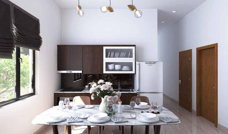 Thiết kế nội thất nhà cấp 4 phòng khách và phòng bếp đẹp 1
