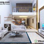 Thiết kế nội thất nhà cấp 4 gác lửng chi phí 200 triệu