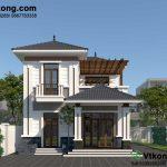 Thiết kế biệt thự 2 tầng 8x12m nhỏ gọn tại Hà Nội BT2T50
