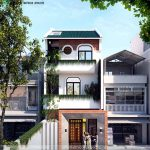 Tư vấn thiết kế mẫu nhà phố 3 tầng 5x15m tại Hưng Yên NP3T14