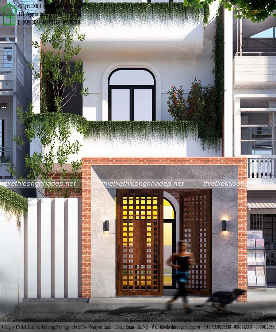 Tư vấn thiết kế mẫu nhà phố 3 tầng 5x15m tại Hưng Yên NP3T14 2