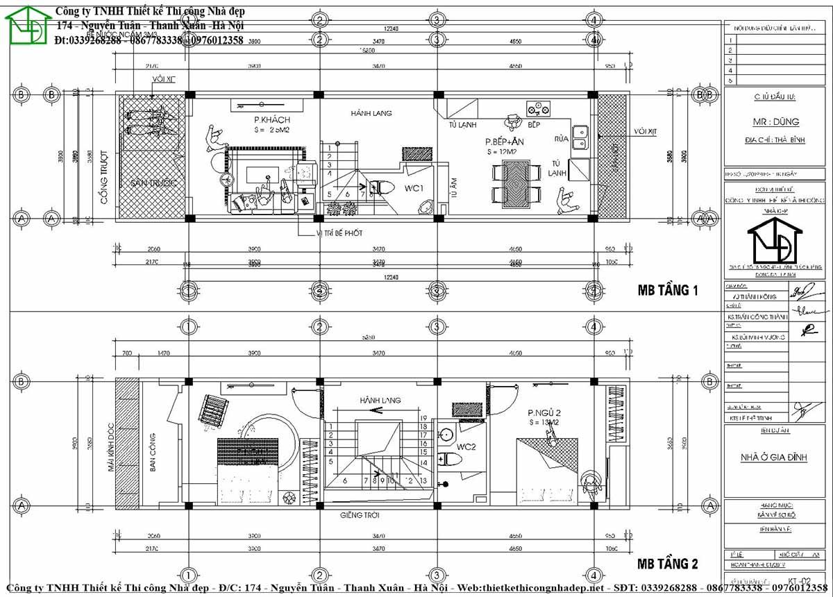 Công năng sử dụng của tầng 1, tầng 2 nhà phố 4 tầng hiện đại