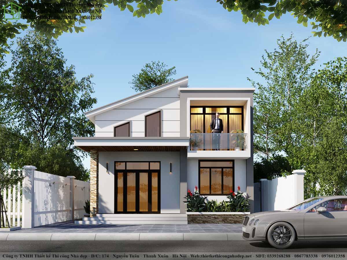 Mẫu nhà cấp 4 8x13m hiện đại, mẫu nhà cấp 4 đẹp NC469