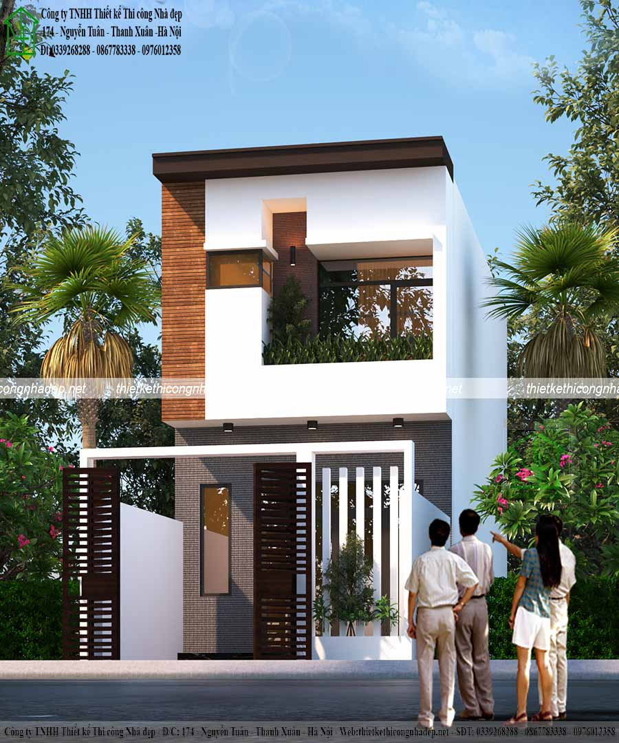 Màu sơn kết hợp hệ thống cửa tạo nên sự sang trọng cho ngôi nhà