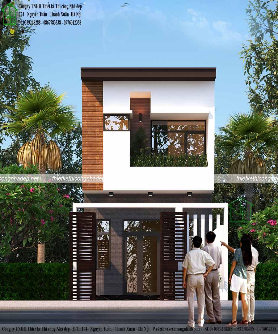 Tư vấn thiết kế mẫu nhà phố 2 tầng 5x13m đẹp, hiện đại NP2T5