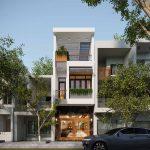 Tư vấn thiết kế nhà mặt phố 3 tầng 4x18m sang trọng NP3T15