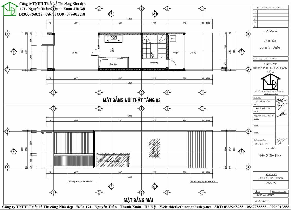 Công năng sử dụng tầng 3 và kết cấu phần mái
