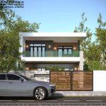 Mẫu thiết kế nhà phố 2 tầng hiện đại, đẹp tại Thái Nguyên NP2T6