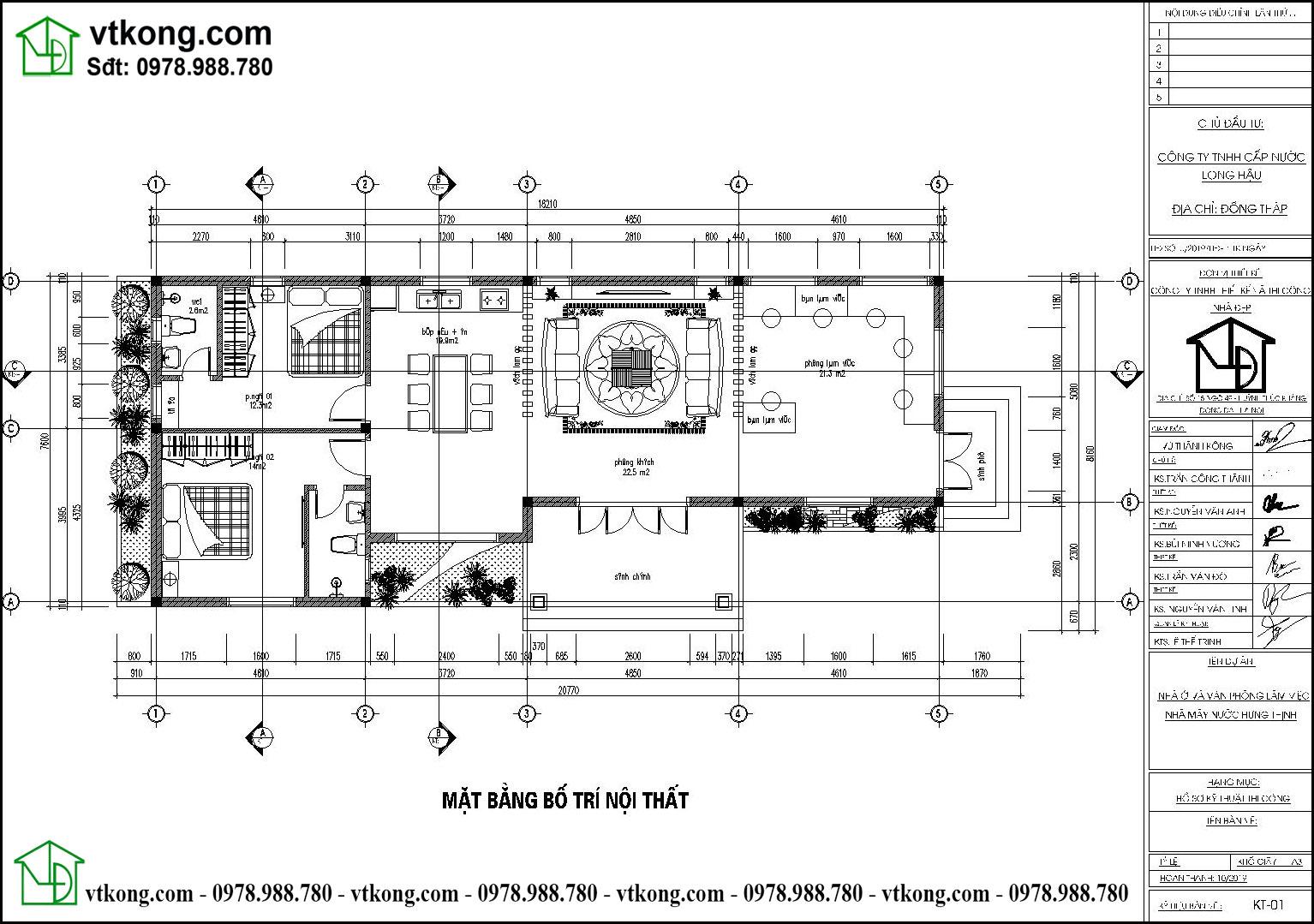 Thiết Kế Nhà Cấp 4 20x8m 2 Phòng Ngủ Tại Quảng Ninh Nc473