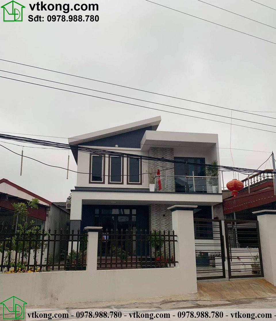 Mẫu nhà cấp 4 hiện đại đẹp tại Nam Định 8x12m NC476