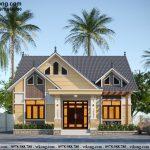 Nhà cấp 4 mái thái 10x11m 3 phòng ngủ tại Phú Thọ NC475