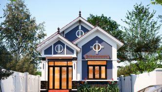 Thiết kế nhà cấp 4 7x14m mái Thái tại Vĩnh Phúc NC471