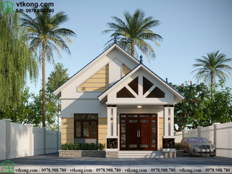 Thiết kế nhà cấp 4 3 phòng ngủ 9x12m tại Thái Bình NC483