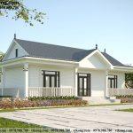 Thiết kế nhà cấp 4 có 3 phòng ngủ 15x8m tại Hà Giang NC487