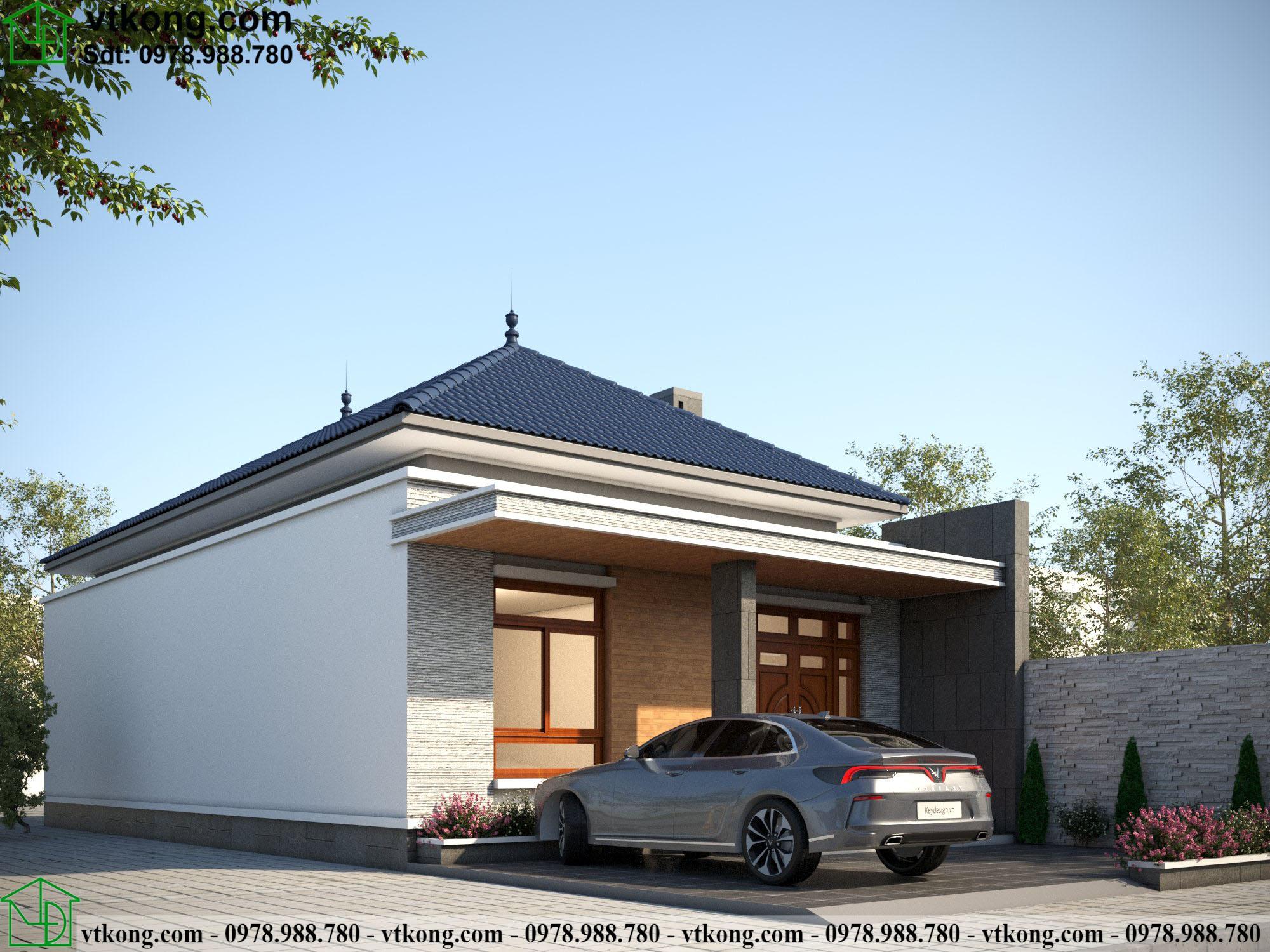 Nhà Cấp 4 Mái Nhật 8x14m Tại Hưng Yên Nc4118