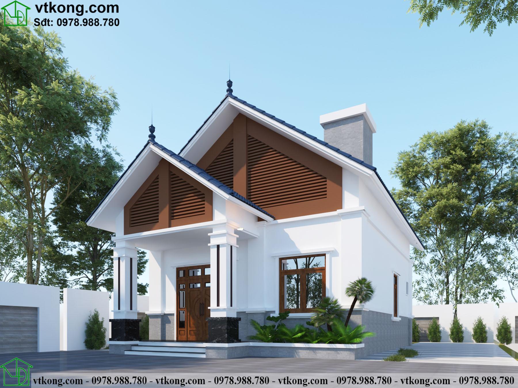Nhà Cấp 4 Mái Thái 8x10m Tại Sơn La Nc4110