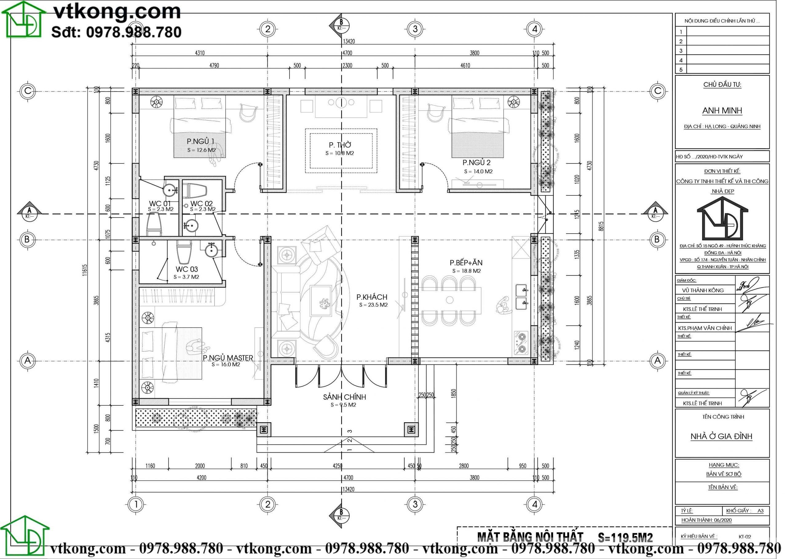 Nhà Cấp 4 3 Phòng Ngủ 1 Phòng Khách 1 Phòng Thờ 14x10